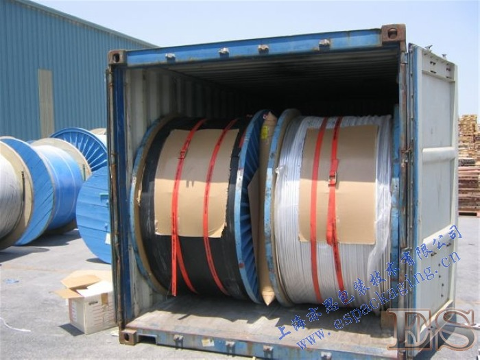 Cable coils in a container